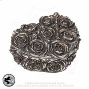 ALCHEMY GOTHIC Antique Silver Rose Heart Trinket Box | Gothic Home & Gifts